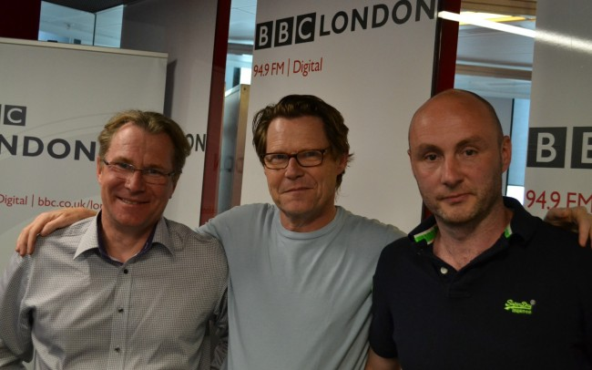 Robert Elms at BBC London with Garrick