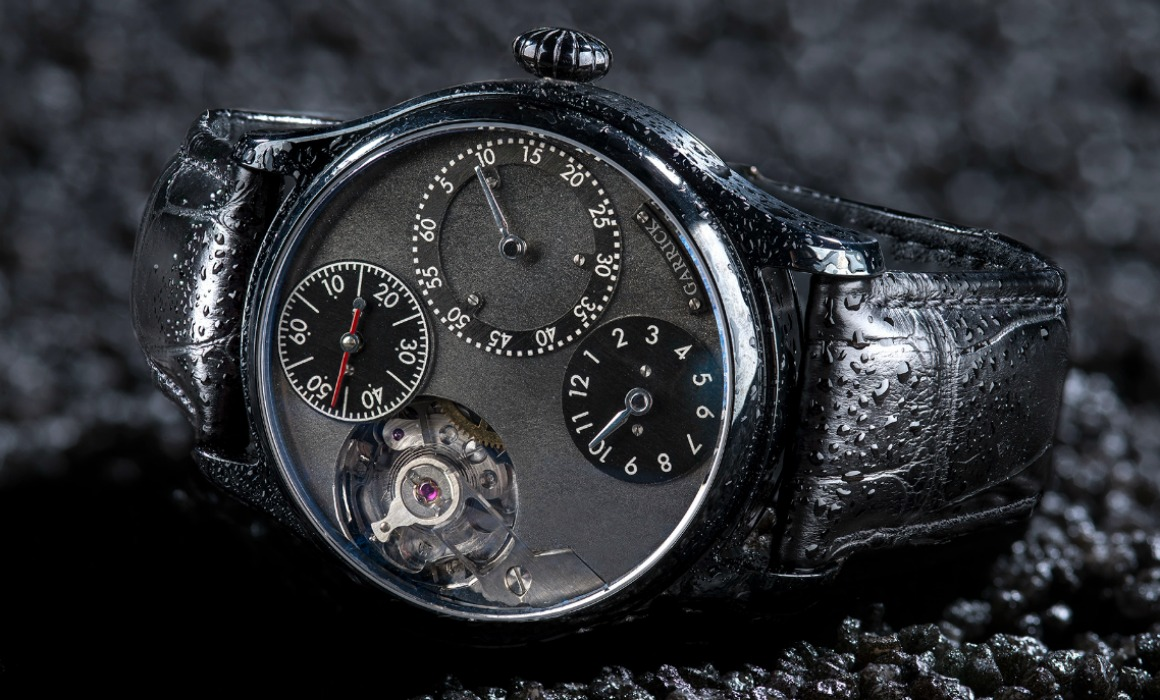 Black DLC Regulator watch by Garrick