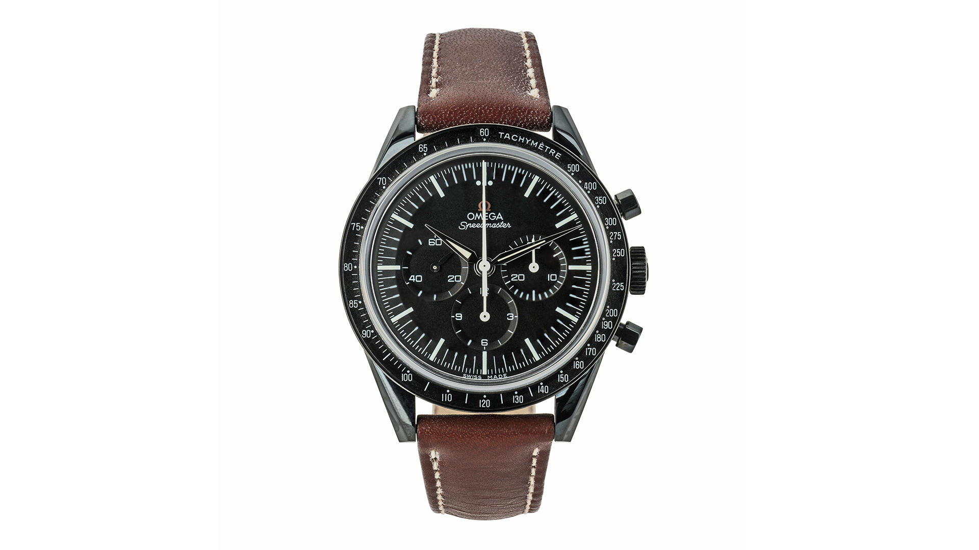 Omega Speedmaster first omega in space - black dlc watch